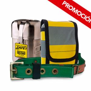 Kit Autorrescatador Safe1 + Funda Protectora + Cinturon Minero